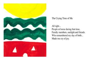 crying time of me art poem