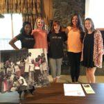 From left: Amber Davis, TLP Intern; Crystal Burgan, Branch Director; Sarah Forgey, Graphic Design Intern; Lauren Bateman, TLP Lead Residential Supervisor; Maya McDowell, Marketing Intern