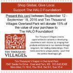 Shop Local, Give Global Card HALO